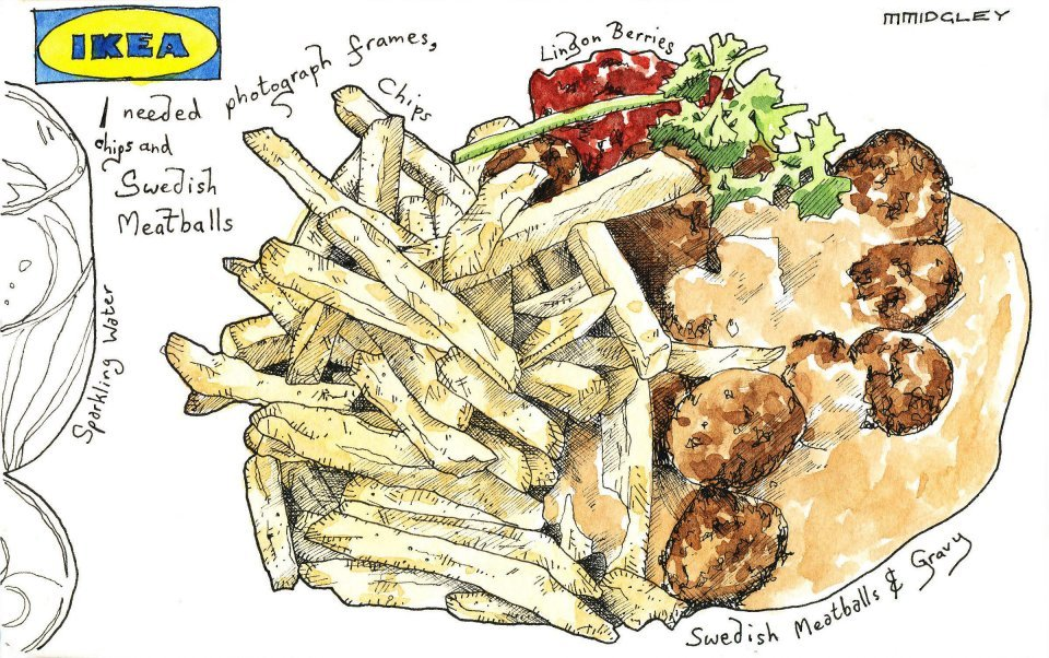 Ikea Swedish Meatballs Matthew Midgley Illustration