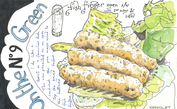 No9 on the green - fish finger sandwich sm