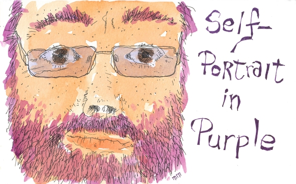 Self-Portrait in purple sm