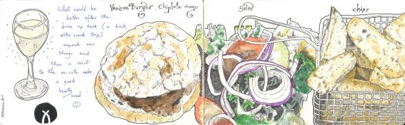 The Bivouac - Venison burger 1 sm