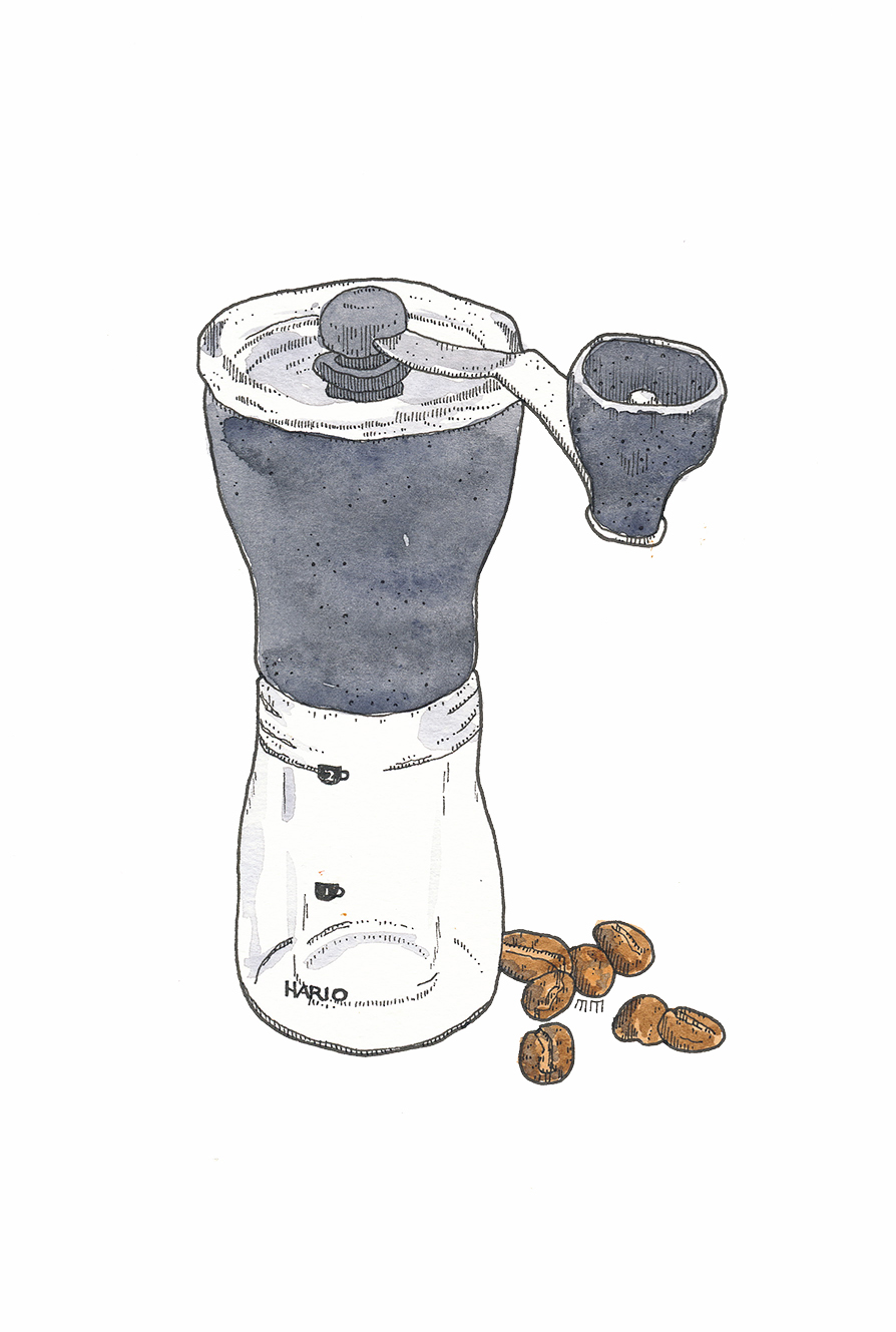 Coffee Grinder Drawing ~ Coffee matthew midgley illustration